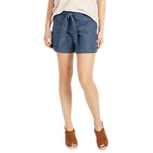 Buy Phase Eight Lynne Tie Front Shorts, Blue Online at johnlewis.com