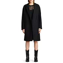 Buy AllSaints Ada Laced Coat, Black Online at johnlewis.com