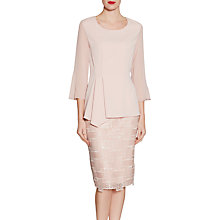 Buy Gina Bacconi Mosaic Sequin Embroidery Skirt, Apricot Crush Online at johnlewis.com