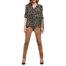 Buy Gerard Darel Pacha Leather Trousers, Camel Online at johnlewis.com