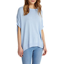 Buy Phase Eight Kirstie Ellipse Hem Knitted Top, Soft Blue Online at johnlewis.com