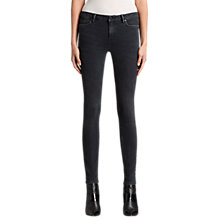 Buy AllSaints Mast Skinny Jeans, Washed Black Online at johnlewis.com