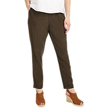 Buy Phase Eight Anita Soft Trousers, Khaki Online at johnlewis.com