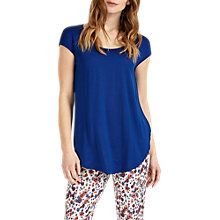 Buy Phase Eight Cam Circle Hem Top, Cobalt Online at johnlewis.com