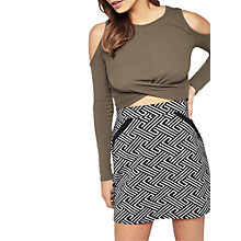 Buy Miss Selfridge Deco A-Line Mini Skirt, Multi Online at johnlewis.com
