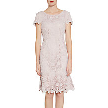 Buy Gina Bacconi Matte Primrose Guipure Frill Hem Dress Online at johnlewis.com