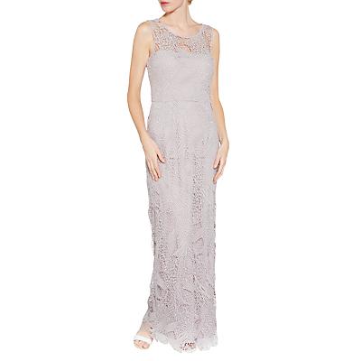Gina Bacconi Abstract Guipure Lace Maxi Dress