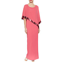 Buy Gina Bacconi Crepe Maxi Dress And Sequin Band Chiffon Cape Online at johnlewis.com