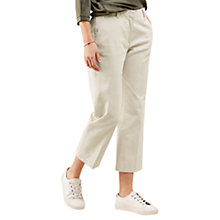 Buy Jigsaw Cropped Straight Chino Trousers Online at johnlewis.com