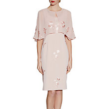 Buy Gina Bacconi Embroidered Crepe Dress And Chiffon Cape Online at johnlewis.com
