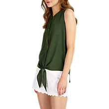 Buy Phase Eight Allie Tie Front Blouse, Green Online at johnlewis.com