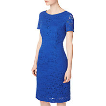 Buy Precis Petite Jessie Lace Shift Dress, Blue Online at johnlewis.com