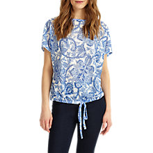 Buy Phase Eight Asha Paisley Top, Blue/White Online at johnlewis.com