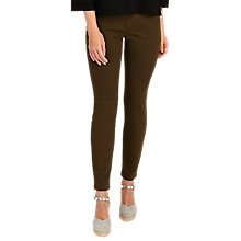 Buy Phase Eight Victoria Seamed Jeans, Khaki Online at johnlewis.com