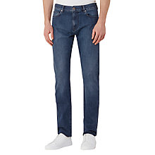 Buy Reiss Pentle Cotton Twill Slim Jeans, Stone Online at johnlewis.com