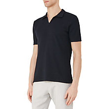 Buy Reiss Exmoor Textured Cotton Polo Shirt, Navy Online at johnlewis.com