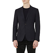 Buy Reiss Reality Tonal Weave Modern Fit Blazer, Navy Online at johnlewis.com