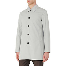 Buy Reiss Sandhurst Lightweight Cotton Mac, Light Grey Online at johnlewis.com