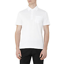 Buy Reiss Spirito Pique Cotton Polo Shirt, White Online at johnlewis.com