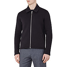 Buy Reiss Decoy Zip Front Jacket, Navy Online at johnlewis.com