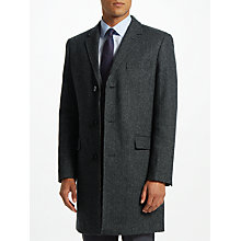 Buy John Lewis Semi Plain Epsom Coat, Charcoal Online at johnlewis.com