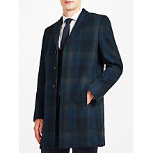 Buy Kin by John Lewis Check Epsom Coat, Teal Online at johnlewis.com