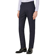 Buy Reiss Bank Linen Chino Trousers, Navy Online at johnlewis.com