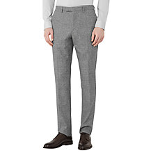 Buy Reiss Bribe Mottled Weave Slim Fit Suit Trousers, Light Grey Online at johnlewis.com