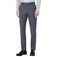 Buy Reiss Taken Mottled Tailored Trousers, Indigo Online at johnlewis.com