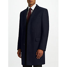 Buy John Lewis Basket Weave Covert Coat, Navy Online at johnlewis.com