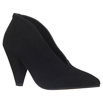 1950s Style Shoes Carvela Andrew Cone Heeled Ankle Boots Black £120.00 AT vintagedancer.com
