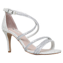Buy Carvela Gravity Occasion Stiletto Heeled Sandals, White Online at johnlewis.com