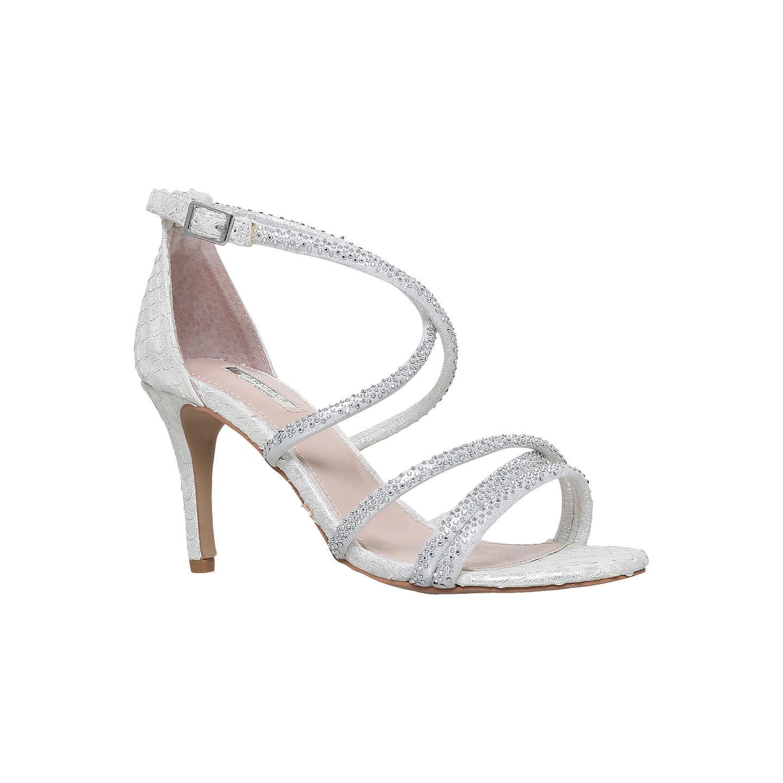 Gravity Embellished Heeled Sandals - White Carvela GRR262llW