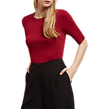 Buy Jaeger Compact Knitted Top, Bordeaux Online at johnlewis.com