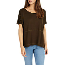 Buy Phase Eight Savannah Savannah Seam Top, Khaki Online at johnlewis.com
