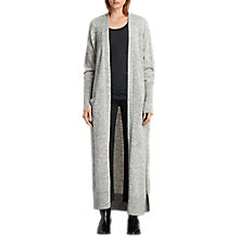 Buy AllSaints Maia Long Cardigan, Light Grey Marl Online at johnlewis.com