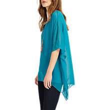 Buy Phase Eight Maggie Asymmetric Silk Blouse, Turquoise Online at johnlewis.com