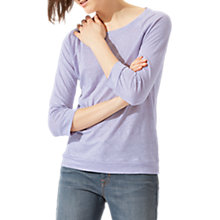 Buy Jigsaw Linen Raglan Sleeve Top, Lilac Mist Online at johnlewis.com