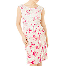 Buy Jacques Vert Petite Flower And Lace Dress, Multi/Pink Online at johnlewis.com
