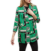 Buy Jaeger Graphic Jacquard Blazer, Green/Multi Online at johnlewis.com