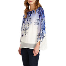 Buy Phase Eight Noella Print Blouse, Blush Online at johnlewis.com