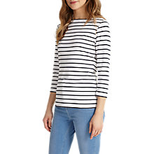 Buy Phase Eight Stella Stripe Top, Navy/White Online at johnlewis.com