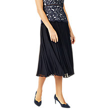 Buy Jacques Vert Plisse Midi Skirt, Navy Online at johnlewis.com