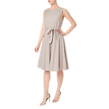 Buy Precis Petite Linen Blend Belted Dress, Mid Neutral Online at johnlewis.com