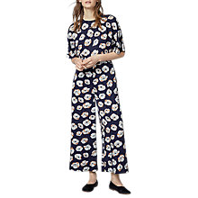 Buy Warehouse Floating Floral Jumpsuit, Navy Online at johnlewis.com