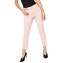 Buy Miss Selfridge Crepe Cigarette Trousers, Pale Pink Online at johnlewis.com