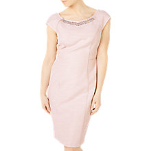 Buy Jacques Vert Petite Embellished Shift Dress, Pastel Pink Online at johnlewis.com