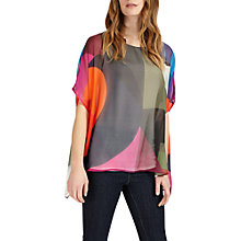 Buy Phase Eight Phoenix Printed Silk Blouse, Multi Online at johnlewis.com