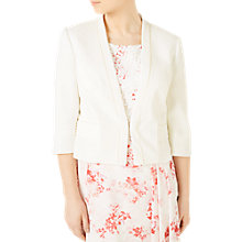 Buy Jacques Vert Petite Crepe Jacket, Ivory Online at johnlewis.com
