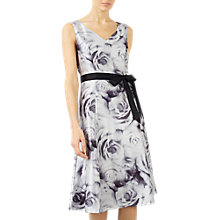 Buy Jacques Vert Rose Print Prom Dress, Black/Multi Online at johnlewis.com